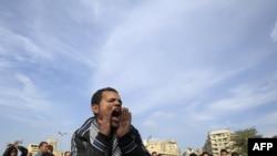 Каһирәдәге протест чараларының берсе
