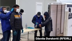U protekle dvije godine u BiH je registrovano više od 60.000 migranata i izbjeglica (Fotografija iz kampa Lipa, april 2020)