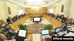 Guvernul iranian, ședință prezidată de Hassan Rouhani's cabinet, 2017.