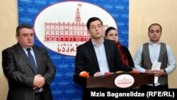 """Бывший христианские демократы в тбилисском сакребуло создади новую фракцию """"Грузинская мечта – демократическая Грузия"""", которая продолжит борьбу с """"Нацдвижением"""""""