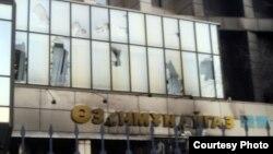 """Разрушенные здания """"Озенмунайгаза"""". Жанаозен,18 декабря 2011 года."""