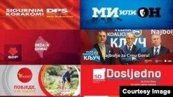 Neki od predizbornih plakata crnogorskih stranaka