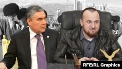Президент Туркменистана и глава Шалинского района Чечни Турпал-Али Ирагимов (коллаж)