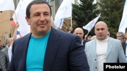 ԲՀԿ առաջնորդ Գագիկ Ծառուկյանն ու անվտանգության ծառայության պետ Էդուարդ Բաբայանը, արխիվ