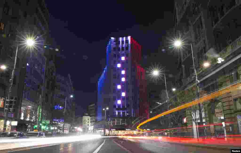 Одно из крупнейших деловых зданий Белграда.