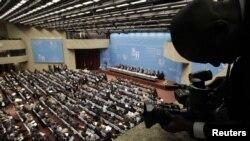 Pamje nga një takim ministror i OBT-së, Gjenevë