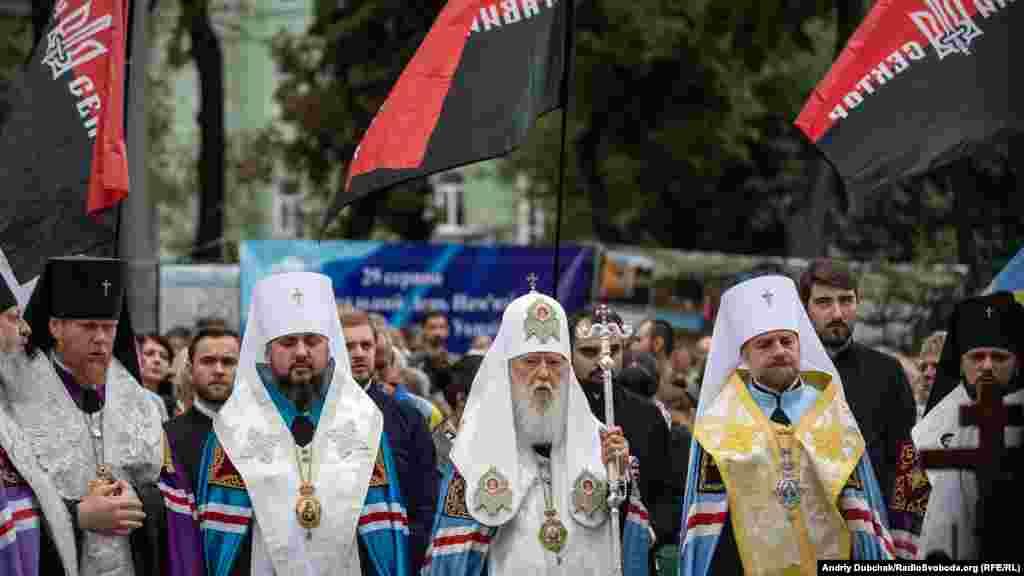 Панахиду за загиблими очолив патріарх Київський і всієї Руси-України Філарет