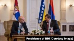 Milorad Dodik sa ambasadorom Srbije, Aleksandrom Đorđevićem