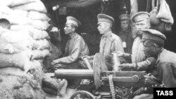 Русские солдаты в Восточной Пруссии. Сентябрь 1914 года