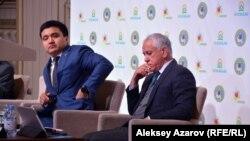 Максат Кикимов (управление туризма и внешних связей акимата) и Наиль Нуров (компания Almaty Mountain Resorts).