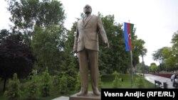 Heydər Əliyevin Belqradın Tasmaydan parkındakı heykəli