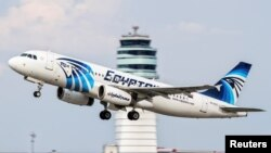 The EgyptAir Airbus 320, which disappeared from radar over the Mediterranean sea on May 19, is pictured in Vienna in August 2015.