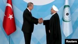 Թուրքիայի և Իրանի նախագահների հանդիպումը ԻՀԿ գագաթնաժողովի շրջանակում, Ստամբուլ, 14-ը ապրիլի, 2016թ․