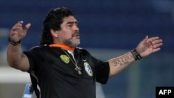 Argentinian soccer legend Diego Maradona has been jobless since being fired this summer as manager of the United Arab Emirates team Al-Wasl.