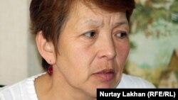 Әлеуметтік қызметкер Бақытгүл Мұстафақызы. Алматы, 4 сәуір 2013 жыл.