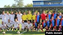 Товарищеский матч между «сборными» группировок «ЛНР» и «ДНР»