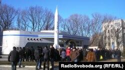 Протест працівників «Південного машинобудівного заводу» в Дніпропетровську
