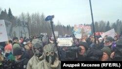 Митинг против работы полигона, Волоколамск, 10 марта 2018 года