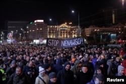 Многотысячная акция памяти Павла Адамовича в Гданьске в понедельник, 14 января