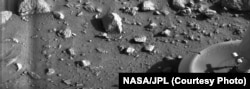 This 1976 NASA image was the first to give a clearer view of the Martian landscape, from a low-lying plain called Chryse Planitia in the northern hemisphere of Mars.