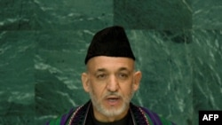 Afghan President Hamid Karzai addressed the forum on November 12.