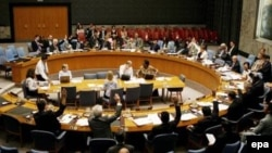 شورای امنيت سازمان ملل به اتفاق آرا به دنبال خودداری ايران از تعليق برنامه غنی سازی خود اين قطعنامه را تصويب کرد