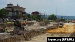 Строительство трассы «Таврида» в Бахчисарайском районе, август 2019 года