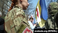 Пікет біля посольства Білорусі в Києві, 1 квітня 2016 року