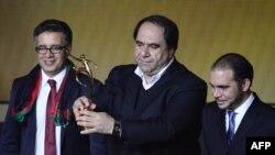 Karim Keramuddin, predsjednik Afganistanskog nogometnog saveza na dodjeli nagrade