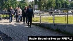 Архивска фотографија: Претседателот на СДСМ Зоран Заев пристигнува на едно од судењата за Поткуп во Основниот суд Скопје 1