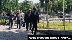 Архивска фотографија: Претседателот на СДСМ Зоран Заев пристигнува во Основниот суд Скопје 1