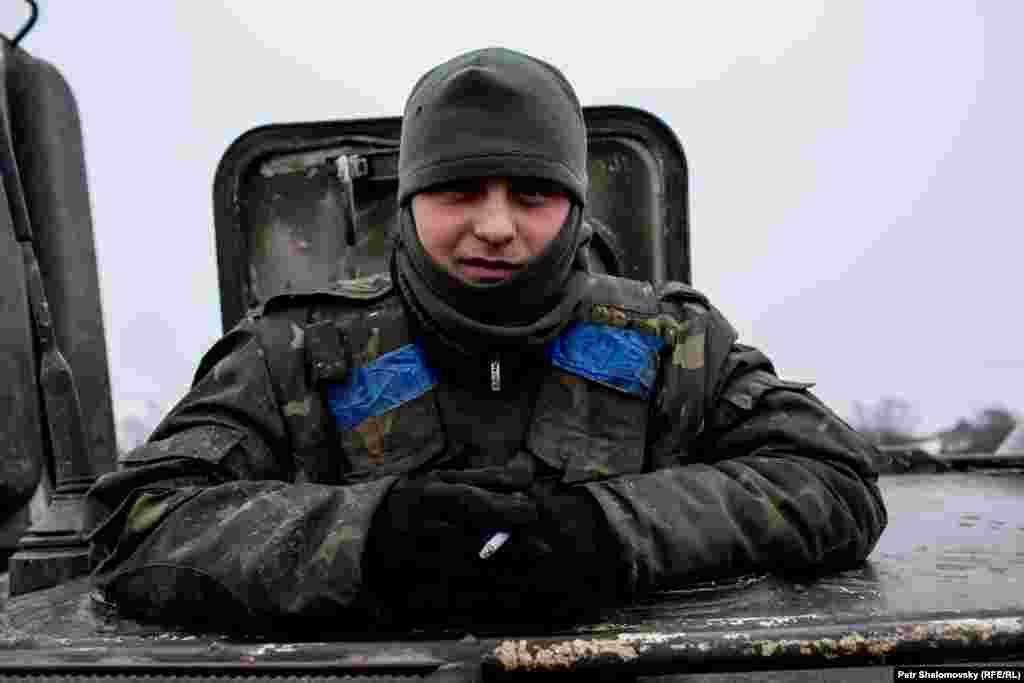 A Ukrainian serviceman
