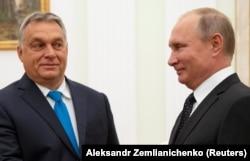 Встреча единомышленников. Виктор Орбан и Владимир Путин на переговорах в Кремле, сентябрь 2018 года