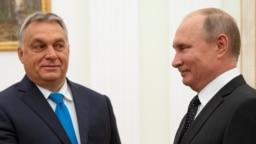 Виктор Орбан на встрече с Владимиром Путиным в Кремле, 2018 год