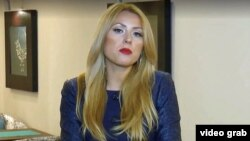 Bulgarian TV journalist Viktoria Marinova gives her last report, which aired on October 1.