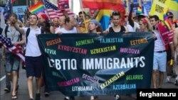 Гей-парад в Нью-Йорке. Фото информагентства «Фергана».