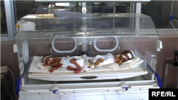 Newborns in a Kabul clinic -- the decrease in maternal deaths has taken place mainly in urban areas, where many new health facilities have been built and the quality of care has risen in the past eight years.