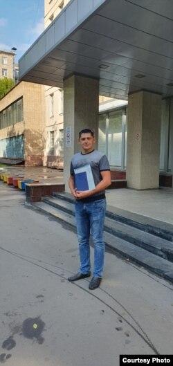 Ильдар Ибрагимов с дипломом Московского политеха