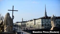 Торино, Италия. Снимката е от 13 март 2020 г.