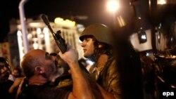 Во время попытки переворота в Стамбуле. 16 июля 2016 года.