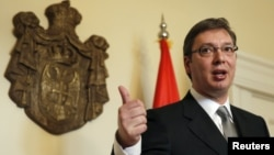 Serbian Prime Minister Aleksander Vucic says the European Union has lost some of its allure for Balkan states.