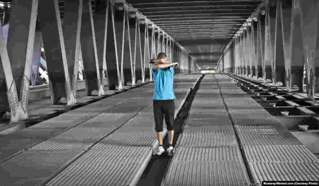Inside a bridge