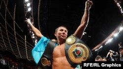 Казахстанский боксер Геннадий Головкин.