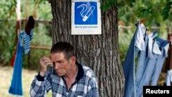 Жител на Украина во бегалски камп во Русија
