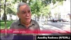 Азербайджанский писатель Акрам Айлисли.