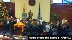Собраниската говорница на 24 декември 2012.