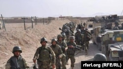 Afghan troops during a military operation in the northern Faryab province in August.