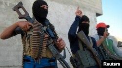 Maskirani sunitski i borci Al Kaide u iračkom gradu Faludži, ilustrativna fotografija