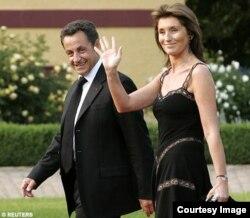 Николя Саркози и его бывшая (вторая) жена Сесилия Сиганер-Альбенис