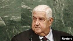 Министр иностранных дел Сирии Валид аль-Муалем.